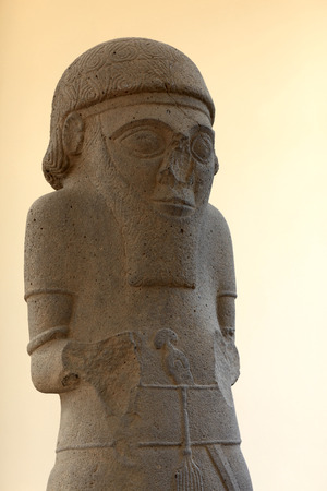 Statue with Base, Late Hittite Period, 9th cent. BCE Stock Photo