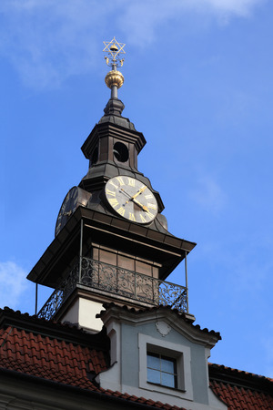 jewish town: Jewish Town Hall clocks in Prague, Chech republic