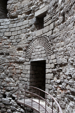 Interior details of tower Yedikule Fortress in Istanbul, Turkey photo