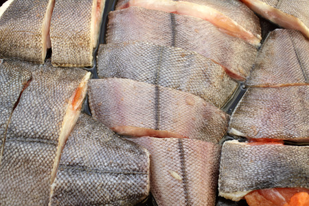 oiled: Sliced ??raw fish turbot with spices and salt