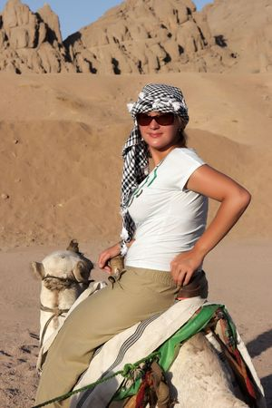 Ride on a Camel through the desert, Egypt