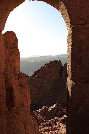 ten empty: Mount Sinai is said to be the place where Moses received the Ten Commandments from God.