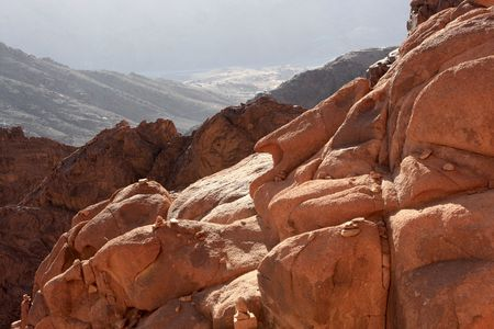 monte sinai: Monte Sina� es considerada sagrada por las religiones jud�as y musulmanas cristianas