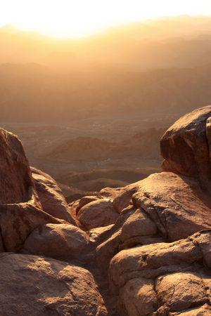 mount sinai: Monte Sinai � detto di essere il luogo dove Mos� ricevette i dieci comandamenti da Dio  Archivio Fotografico