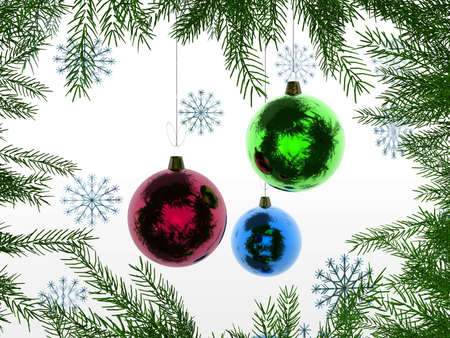 Christmas And New Year 3D Stock Photo - 2083398