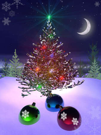 christmas and new year 3d Stock Photo - 2105740