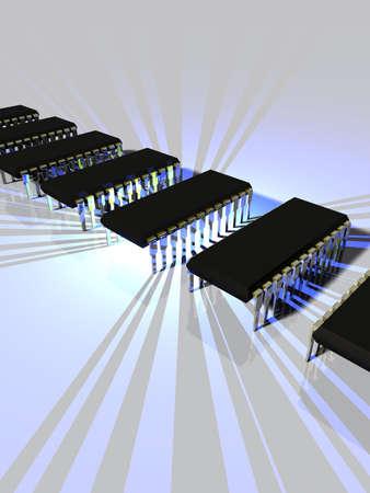 Microchip Technology Stock Photo - 2367093