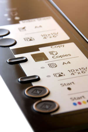 Printer Button Stock Photo