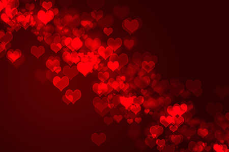 abstract red background - hearts photo