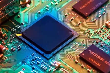 componentes: Tarjeta de circuitos Foto de archivo
