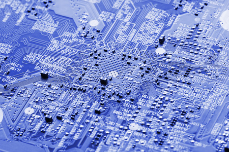 Electronic circuit board close up  photo