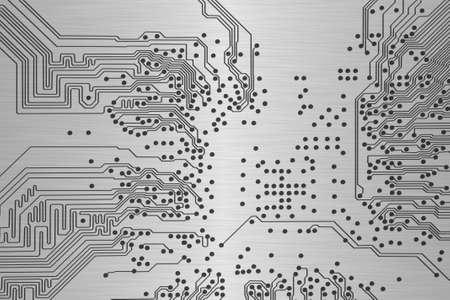 microcircuit: Electronic circuit board close up