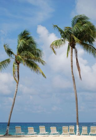 cayman: The most common vision of vacation (Grand Cayman, British Virgin Islands).  Stock Photo