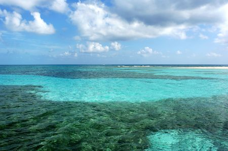 The Barrier Reef in Belize, the second largest in the World. Stock Photo - 3575827