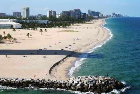 florida beach: Fort Lauderdale city beach, Florida.