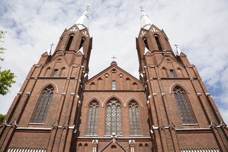 neogothic: The tallest neo-gothic style church in Lithuania situated i resort town Anyksciai