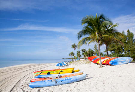 stirrup: Early morning view of Little Stirrup Cay beach (The Bahamas). Stock Photo