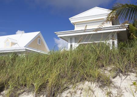 bahama: White color house built on Lucaya beach  (Grand Bahama Island). Editorial