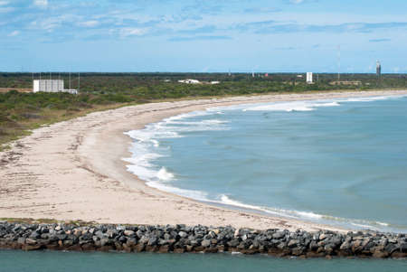 cape canaveral: So called the beach of astronauts in Cape Canaveral  Florida