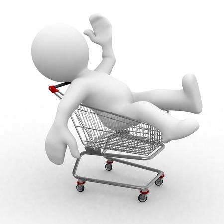 3d figure in shopping cart