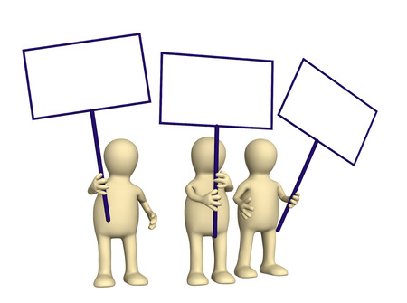 political and social issues: 3d people - protesters Stock Photo