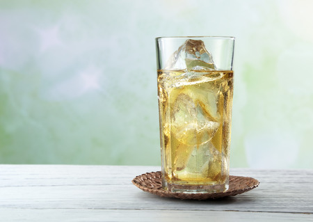 iced tea: Glass of iced tea. Selective focus. Stock Photo