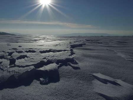 Desert of snow Stock Photo