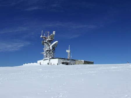 Frozen radio location set Stock Photo