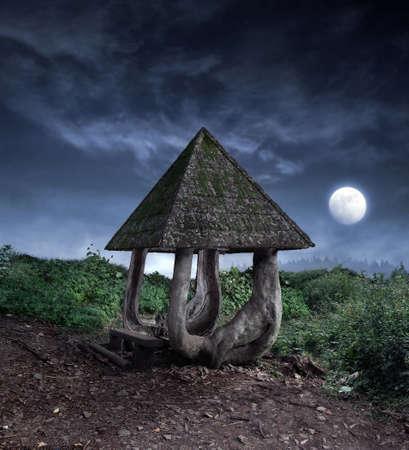 tuinhuis: Fantasy zomerhuis Stockfoto
