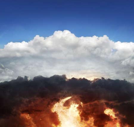infierno: Cielo y el infierno Foto de archivo