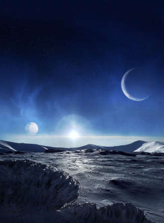 alien landscape: Ice planet