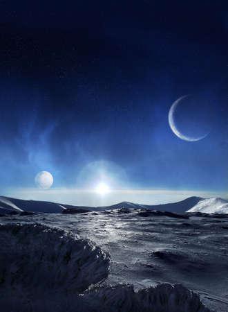 Planeta de hielo Foto de archivo