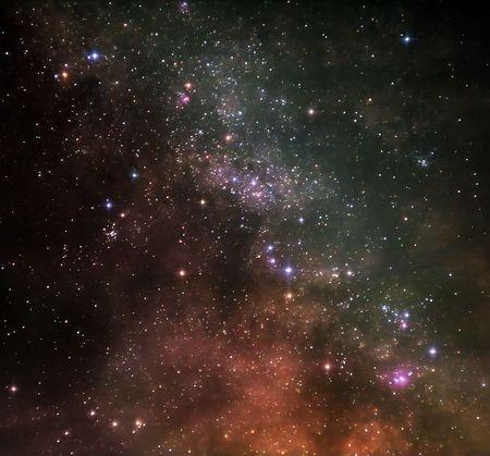 melkachtig: Deeps van ruimte  Stockfoto