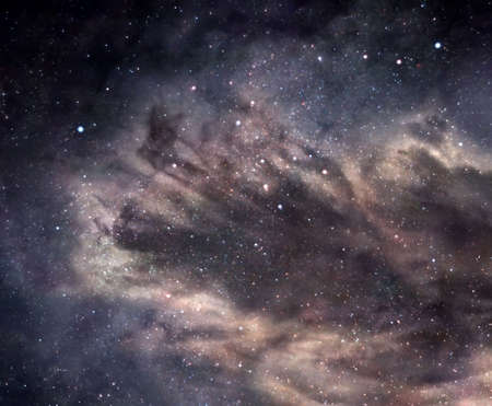 innumerable: Dark nebula in deep space Stock Photo