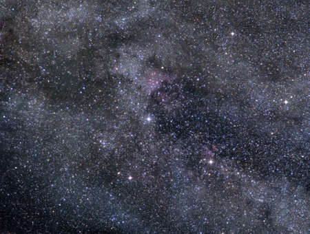 Astronomical image of rich star field in Cygnus constellation