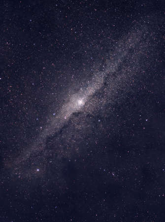 Distant galaxy located somewhere in deep space photo