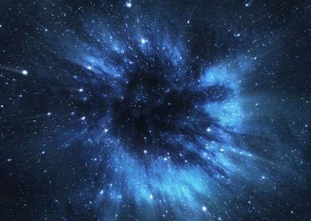 zwart gat: Zwart gat in de ruimte Stockfoto