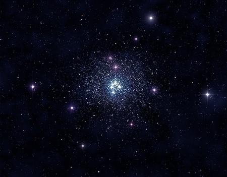 starfield: Stellar cluster
