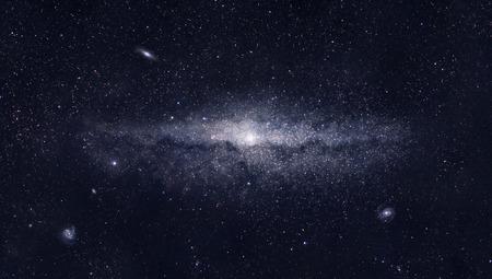 star dust: Bright galaxy Stock Photo