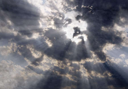 Face of Christ in the sky photo