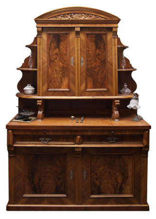 Old German cupboard. Softwood/ pinewood with embellishments. 19th century Stock Photo - 3175602