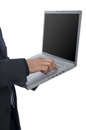 Businessman with laptop Stock Photo - 3331491