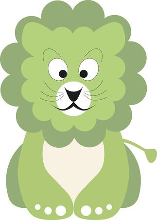 lion baby: Illustrazione vettoriale di un bambino leone verde