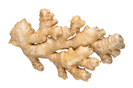 ginger health: Fresh ginger isolated on white with clipping path provided Stock Photo