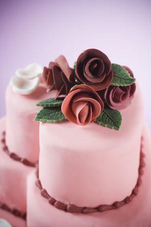 fondant: Fondente torta nuziale con gumpaste rose