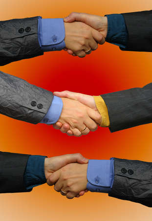 treaty: Colourful business deal Stock Photo