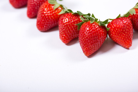 to think about: fresh and tasty red strawberries make you think about summer Stock Photo