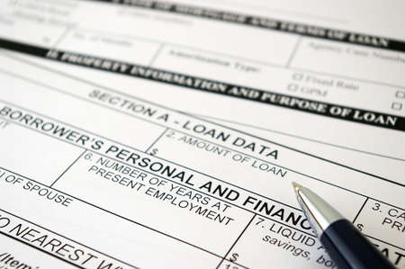 Loan request form Stock Photo - 858485