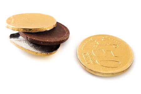 Chocolade Euro Stockfoto