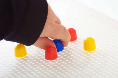 Pegboard Toy Stock Photo